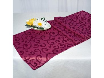 Delindo Lifestyle Tischläufer »Elegance«, Jacquardgewebe Bögendesign, 250 g/m², lila, lila