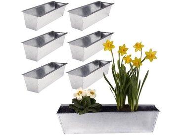 BigDean Blumenkasten »6er Set Pflanzkasten für Europalette - aus Metall«