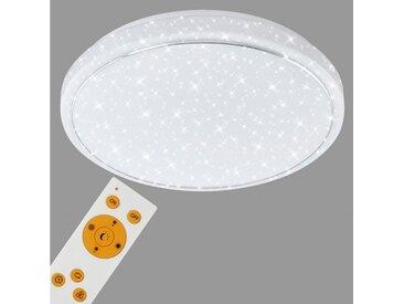 Briloner Leuchten LED Deckenleuchte »Shlomo«, 1-flammig, Deckenlampe Sternenhimmel CCT Nachtlicht Ø 38,5cm