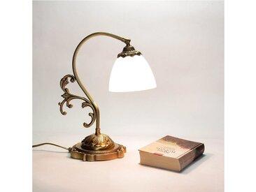 Licht-Erlebnisse Tischleuchte »BEATRICE Tischlampe Schlafzimmer Messing Glas H:36cm E14 Premium Nachtlicht«