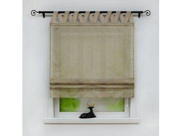 Delien Raffrollo »Thea«, mit Schlaufen, halbtransparentes Unifarbiges Bändchenrollo mit Längsstreifen Schals mit V Schlaufen Fenster Vorhänge, grau