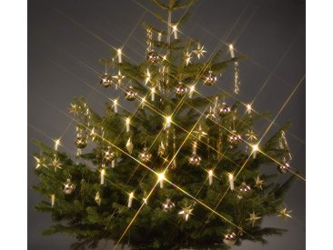 TRANGO LED-Christbaumkerzen »LED Weihnachtskerzen«, 24-flammig, TG340146 warmweiß leuchtend 24 LED Weihnachtskerzen mit Stecksystem Innenbereich Weihnachtsbeleuchtung, Lichterkette