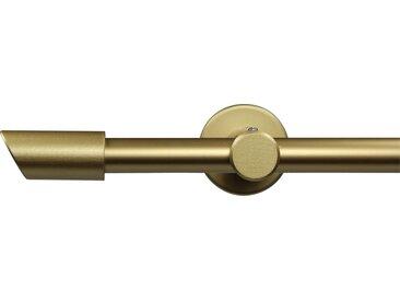 GARESA Gardinenstange »Molis«, Ø 20 mm, 1-läufig, Wunschmaßlänge, goldfarben, 1 läufig, mattgoldfarben