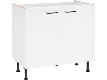 OPTIFIT Spülenschrank »Elga«, Breite 90 cm, weiß, weiß/weiß