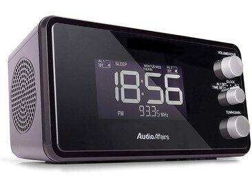 AudioAffairs »Radiowecker« Radiowecker (UKW/FM PLL, UKW Radio mit USB Anschluss, Uhrenradio mit LC Display)