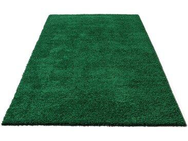 Home affaire Hochflor-Teppich »Viva«, rechteckig, Höhe 45 mm, grün, dunkelgrün