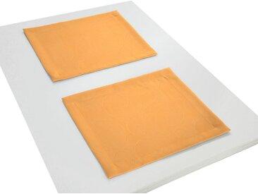 Wirth Platzset, »Neufahrn«, (Packung, 2-St), orange, apricot