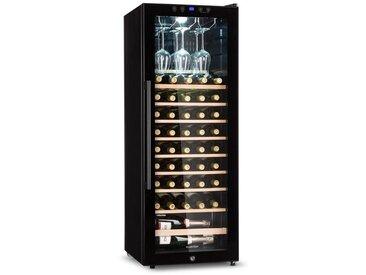 Klarstein Weinkühlschrank 148 L 54 Flaschen Glastür Touch LED schwarz »Barossa 54S«, schwarz, schwarz