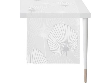 APELT Tischläufer »Lotus - Loft Style« (1-tlg), Ausbrenner, grau, weiß-grau