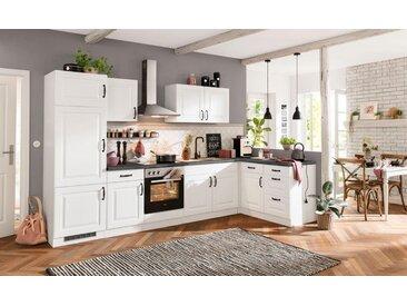 wiho Küchen Küchenzeile »Erla«, ohne E-Geräte, Breite 270 cm, grau, Kassette Weiß/granit schwarz