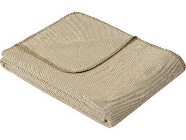 IBENA Wolldecke »Jacquard Decke Auckland«, GOTS zertifiziert, grün, Mischgewebe, grün