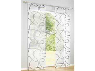 heine home Schiebevorhang bedruckt bedruckt bedruckt, weiß, mit Klettband, weiß/anthrazit