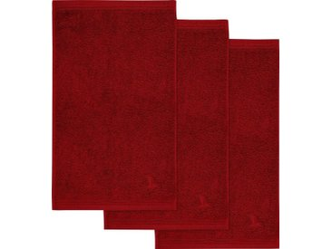 Möve Gästehandtücher »Superwuschel« (3-St), in kräftigen Farben, rot, dunkelrot