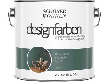 SCHÖNER WOHNEN-Kollektion SCHÖNER WOHNEN FARBE Farbe »Designfarben«, Besinnliches Waldgrün Nr. 23, feinmatt 2,5 l, grün, 2.5 l