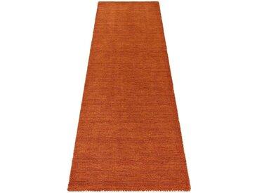 Theko Exklusiv Läufer »Gabbeh uni«, rechteckig, Höhe 15 mm, orange, rostorange
