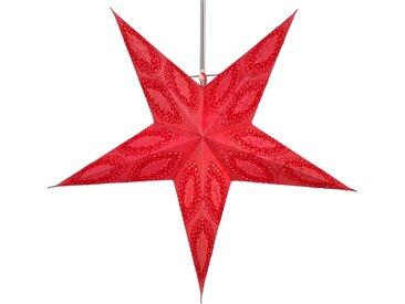 Guru-Shop Papiersterne »Faltbarer Advents Leucht Papierstern,..«, Munos rot