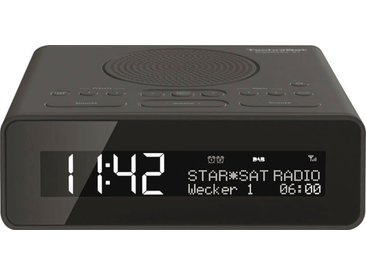 TechniSat »DIGITRADIO 51« Radiowecker (UKW mit RDS, Digitalradio (DAB), 1 W), schwarz, schwarz