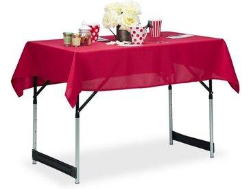 relaxdays Tischdecke »Tischdecke wasserabweisend in 3 Farben«, rot, Rot