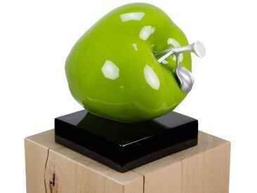 KUNSTLOFT Dekofigur »An Apple a Day«, handgefertigte Figur aus Kunststein