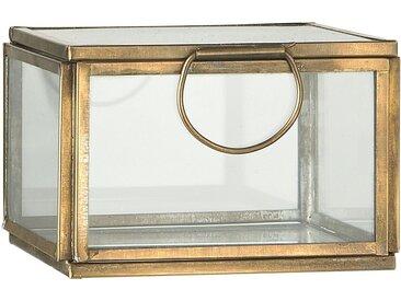 Ib Laursen Holzkiste »Glasbox Utensilienbox Schmuckkasten Glas Dose Messing Gold 9685-17«