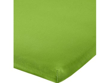 REDBEST Spannbettlaken, Uni Elasthan-Jersey-Stretch, grün, apfelgrün