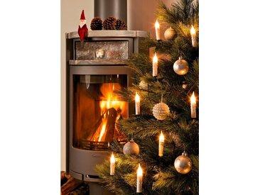 KONSTSMIDE Baumkette, gefrostet mit Wachsoptik, weiß, Lichtquelle klar, Weiß