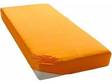 my home Spannbettlaken »Microfaser«, schnell trocknend, orange, 1 St., orange