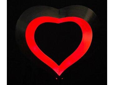 JOKA international LED Solarleuchte »Solar schwebendes Herz mit roten LEDs - Traumhafte Gartendekoration«