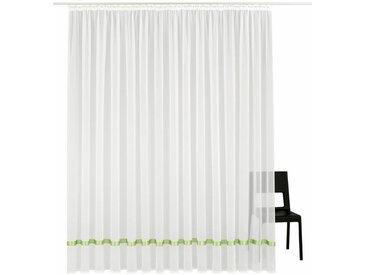 my home Gardine »Eby«, Kräuselband (1 Stück), Vorhang, Fertiggardine, Store, transparent, grün, grün