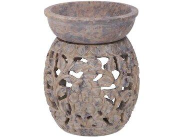 Guru-Shop Duftlampe »Indische Duftlampe, ätherisches Öl Diffusor,..«, Rund Blumenranke 2