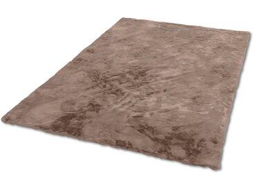 SCHÖNER WOHNEN-Kollektion Fellteppich »Tender«, rechteckig, Höhe 26 mm, besonders weich durch Microfaser, Kunstfell, waschbar, braun, cappuccino