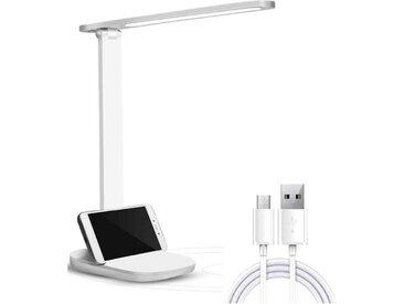 kueatily LED Nachttischlampe »Schreibtischlampe LED, Tischlampe dimmbar, Augenschutz-Leselampe mit USB-Ladeanschluss, 3 Farben und 3 Helligkeitsstufen