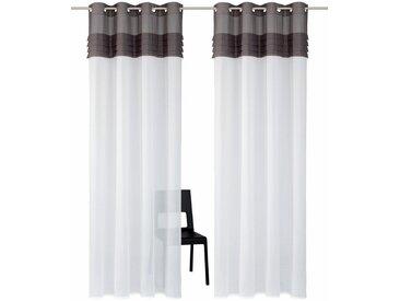 Home affaire Gardine »Gander«, Ösen (2 Stück), Vorhang, Fertiggardine, halbtransparent, grau, grau