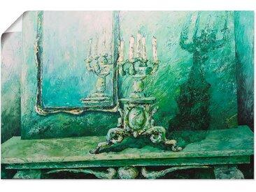 Artland Wandbild »Barocker Leuchter grün«, Innenarchitektur (1 Stück), in vielen Größen & Produktarten - Alubild / Outdoorbild für den Außenbereich, Leinwandbild, Poster