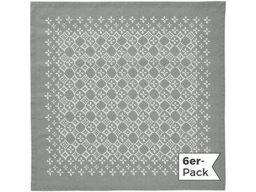 REDBEST Stoffserviette, mit Ornamenten, grau, grau