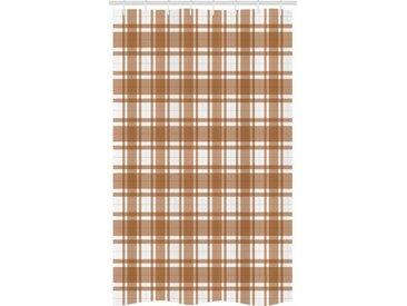 Abakuhaus Duschvorhang »Badezimmer Deko Set aus Stoff mit Haken« Breite 120 cm, Höhe 180 cm, Brown Plaid Old Fashioned-Layout