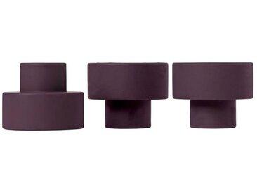BLOMUS Kerzenhalter »TRIO Set 3 Kerzen- und Teelichthalter winetasting«