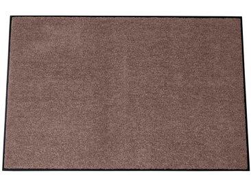 Fußmatte waschbar, braun, nougat
