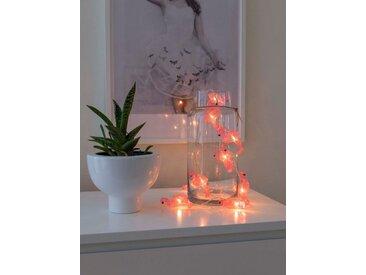 KONSTSMIDE LED Dekolichterkette, rosa, Flamingos, Lichtquelle warm-weiß, Pink