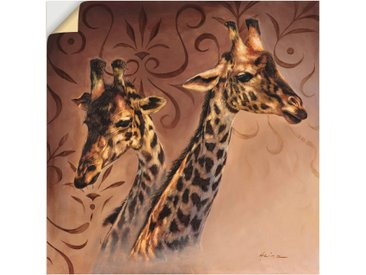 Artland Wandbild »Giraffen Porträt«, Wildtiere (1 Stück), Wandaufkleber - Vinyl