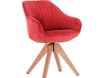 Gutmann Factory Drehstuhl »Chill« Esszimmerstuhl, Armlehnstuhl mit bequemer Polsterung, rot, rot - natur