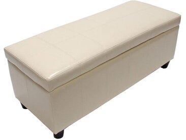 MCW Truhe »Kriens-L«, Aufklappbarer Deckel, Gepolsterte Sitzfläche, Stabiler Stand, braun, creme