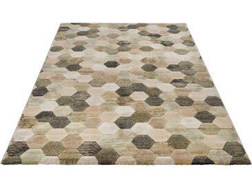 ELLE Decor Teppich »Manosque«, rechteckig, Höhe 11 mm, Kurzflor, leichte Reliefstruktur, grün, grün