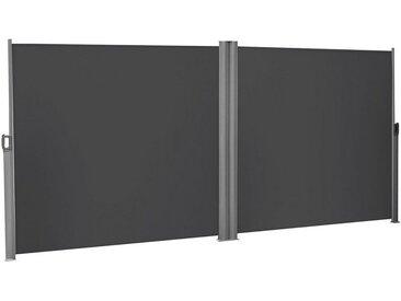 SONGMICS Seitenmarkise »GSA320E GSA320G GSA360E GSA360G GSA400E GSA400G« Doppelseitenmarkise, 1,6 x 6 m (H x L), ausziehbare Sichtschutz, Sonnenschutz, grau