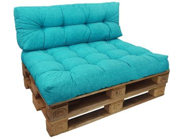 SunDeluxe Sitzkissen »Palettenkissen Comfort 15 cm«, blau, türkis