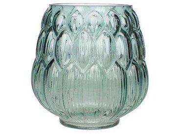 Engelnburg Dekovase » Hochwertiger Vase Glas Petrol 13.5x13.5«