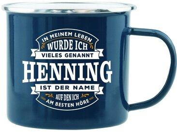 HTI-Living Becher »Echter Kerl Emaille Becher Henning«