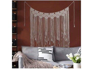 kueatily Türvorhang »Macramé Wandbehang Dekoration, handgemachte gewebte Baumwollteppich, böhmische Wanddekoration, Wandteppich und Türvorhang«