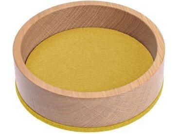 HEY-SIGN Organizer »Ablageschale Bowl Ø 13,5 cm aus Filz/Holz; Taschenleerer, Schlüsselablage, Schmuckablage; Made in Germany«, gelb, Curry