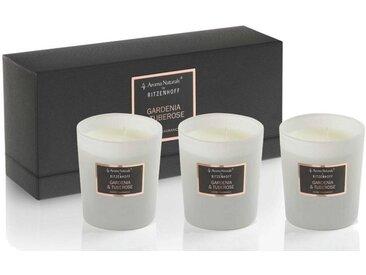 Aroma Naturals by Ritzenhoff Duftkerze »Aroma Naturals Selection 3er Set Gardenia&Tuberose«